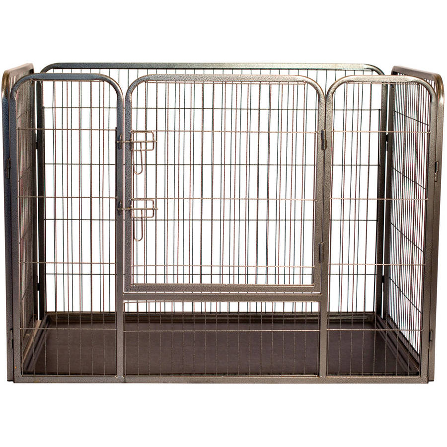 """Iconic Pet Heavy Duty Rectangle Tube Pen Dog Cat Pet Training Kennel Crate, 36"""" Height"""