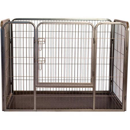 Iconic Pet Heavy Duty Rectangle Tube Pen Dog Cat Pet Training Kennel Crate, 36