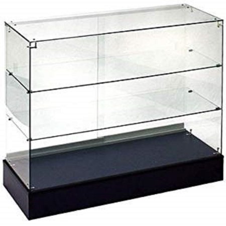 - RETAIL GLASS DISPLAY CASE FULL VISION BLACK 4' SHOWCASE