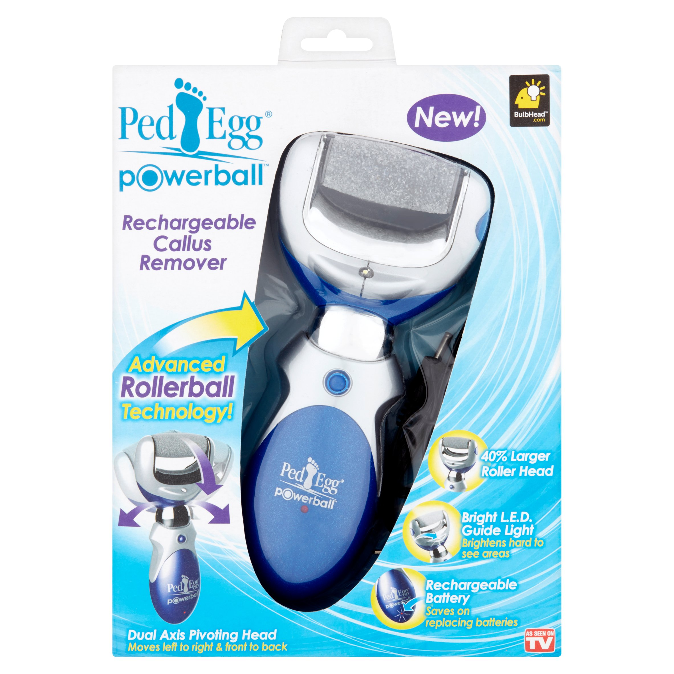 As Seen on TV Ped Egg Powerball Rechargeable Callus Remover