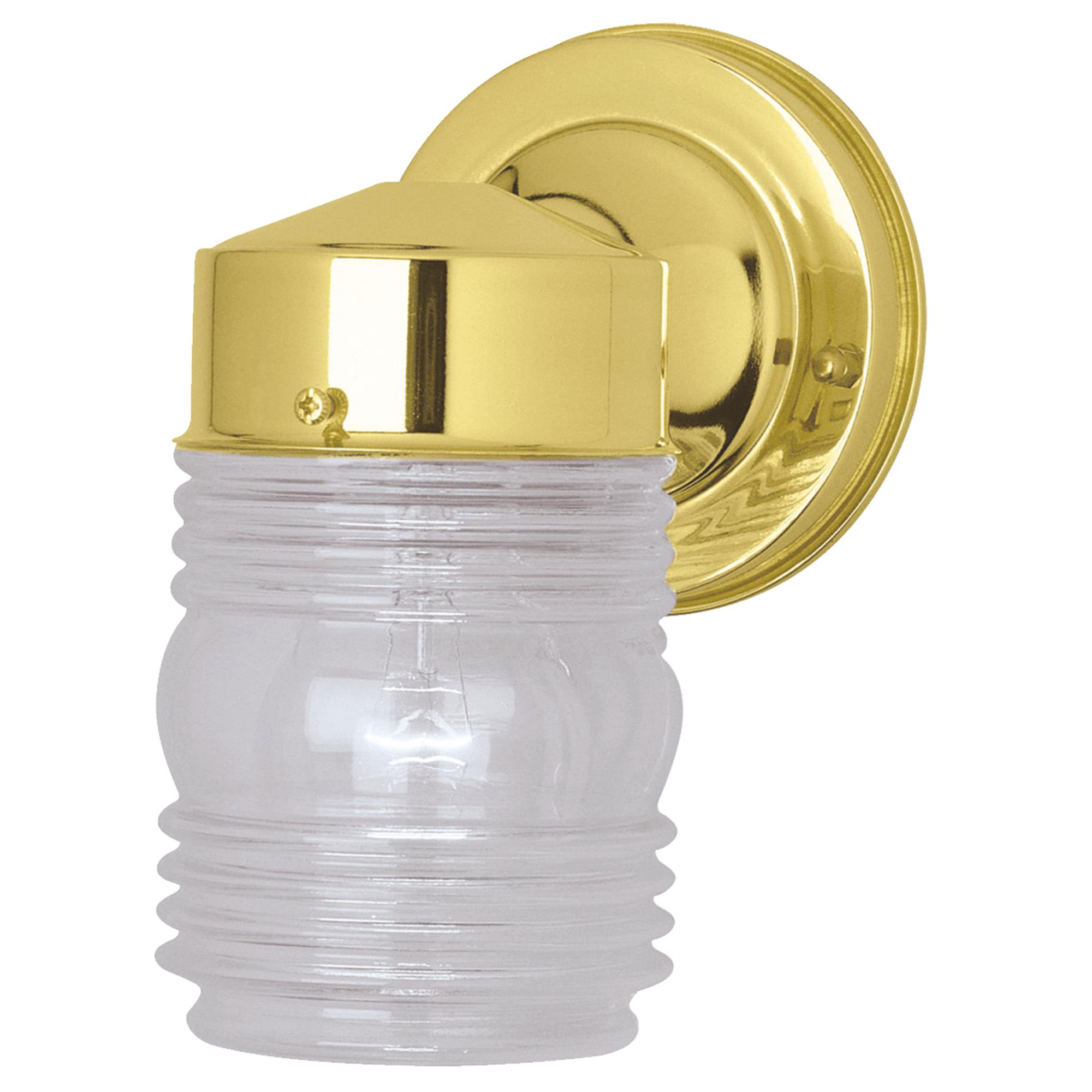 Home Impressions Incandescent Jelly Jar Outdoor Wall Light Fixture
