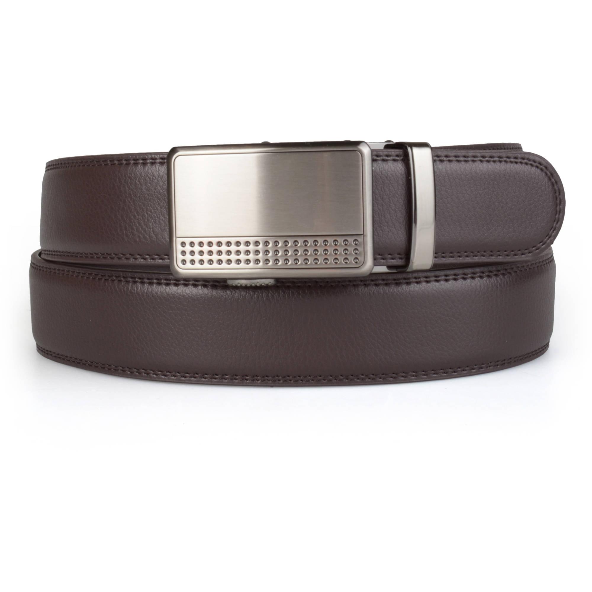 New Men Fashion PU Leather Auto Lock Comfort Click Belt W//Steel Buckle ok