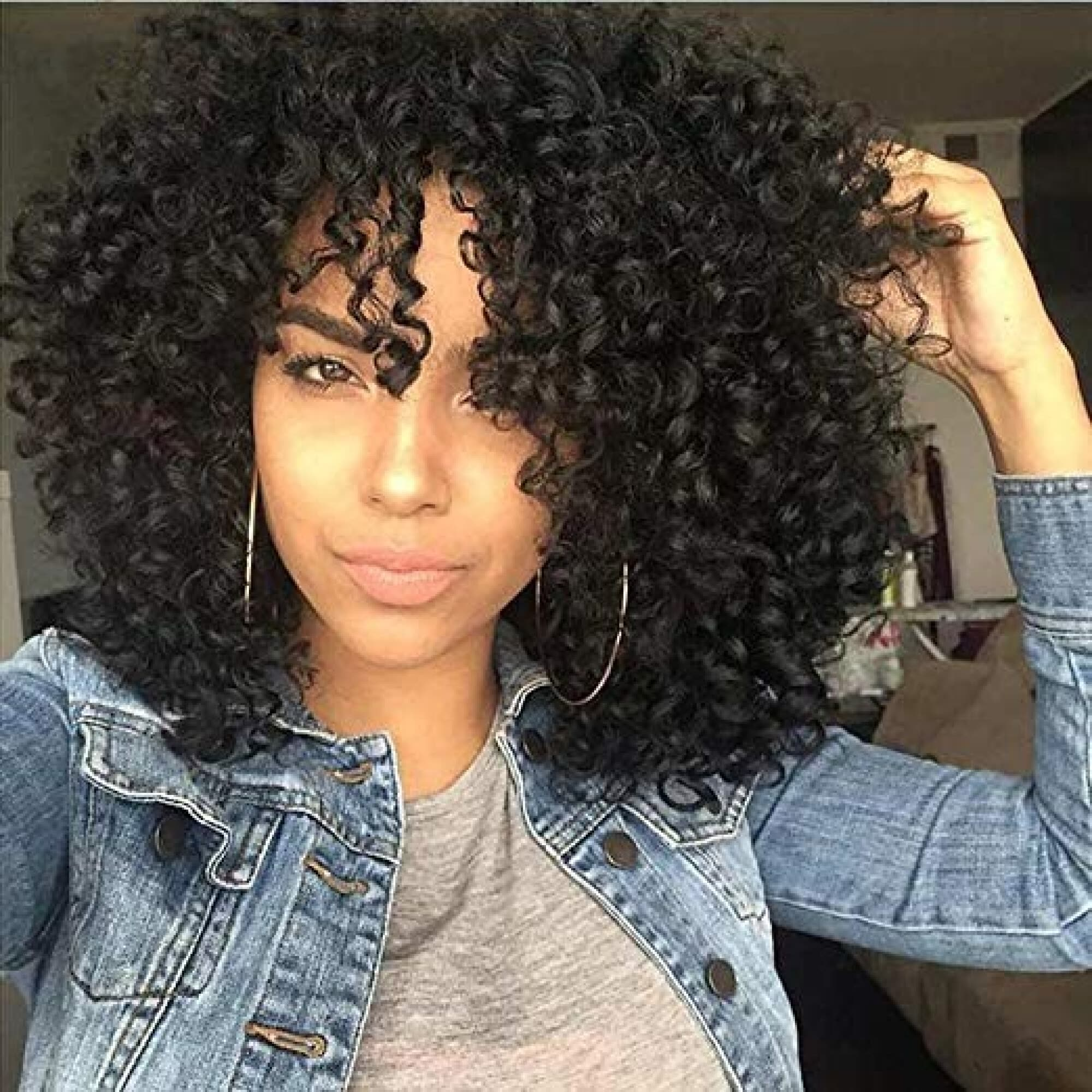 Amazing Star Brazilian Curly Full Cap Wigs for Black Women Synthetic Hair  Weave Cheap Price Synthetic Hair Fashion Full Cap Wigs b4a571777