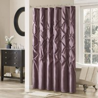 Home Essence Piedmont Tufted Faux Silk Shower Curtain