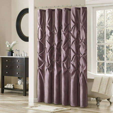 Home Essence Piedmont Tufted Faux Silk Shower (Madison Park Infinity Pieced Faux Silk Shower Curtain)
