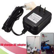 Round Tip/Square Hole Battery Charger AC adapter For Kid SUV Ride On Car, 6V500ma/ 12V1.5a/ 6V1a