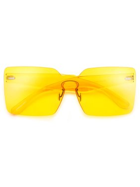 be70727bfd7 Product Image Oversize Futuristic Keyhole Bridge Squared Off Shield  Silhouette Sunnies. sunglass spot