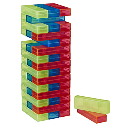 Jenga Neon Pop Building Blocks Tumbling Tower Game, 1+ Players