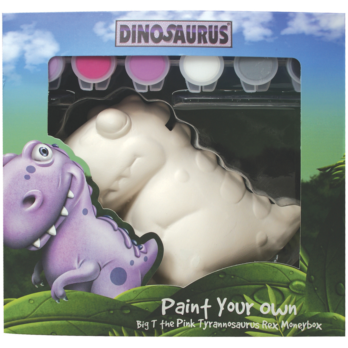 Paint Your Own Dinosaurus-Big T-Pink