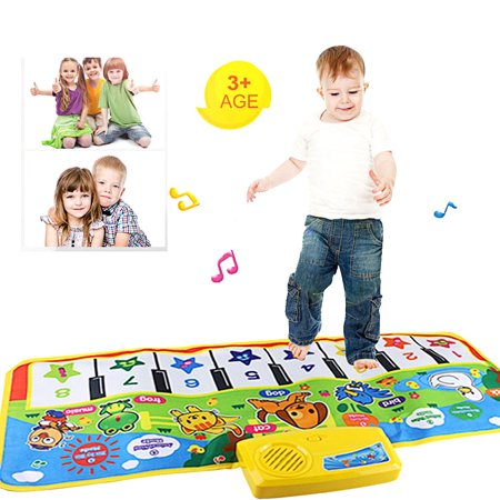 New amusing Touch Play Keyboard Musical Music Singing Gym Carpet Mat Best Kids Baby