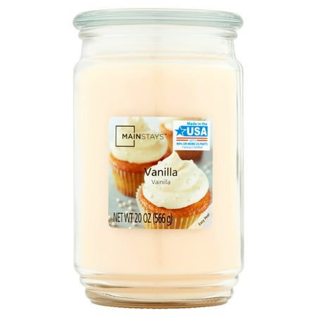 Mainstays Vanilla Single-Wick 20 oz. Jar Candle ()
