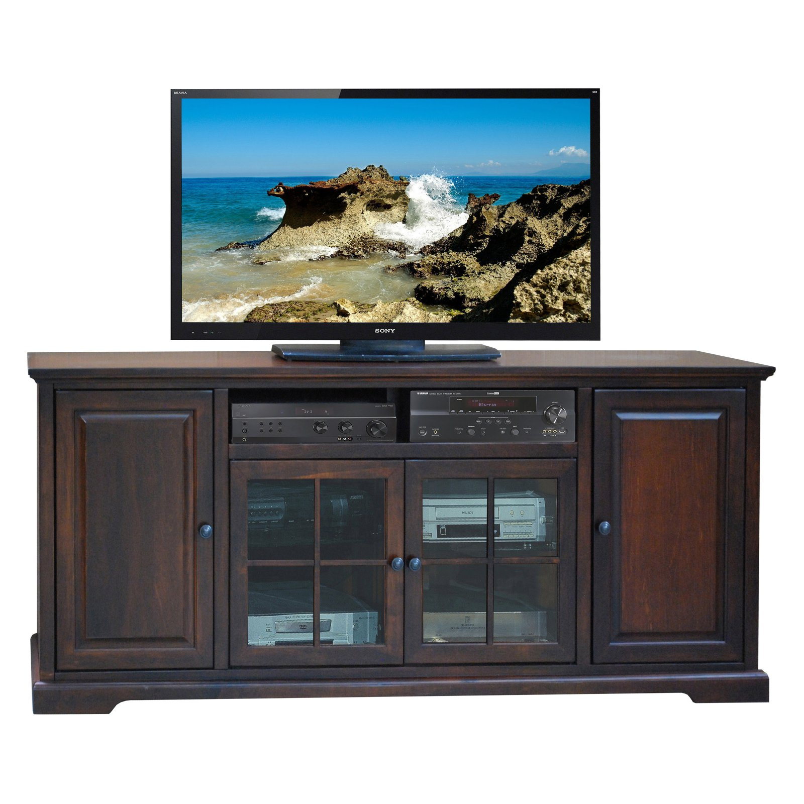 Legends Brentwood 78 in. TV Console - Danish Cherry