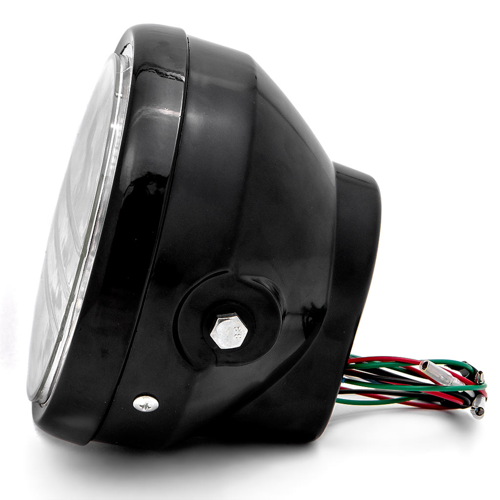 Krator 6.75'' Black Headlight + Turn Signals LED H4 Bulb for Harley Davidson Street Glide - image 7 of 9