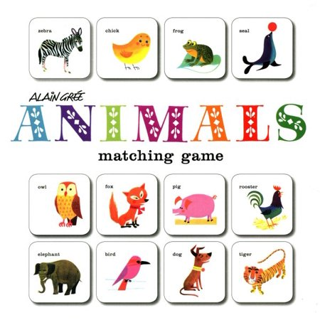 Alain Grée Animals Matching Game : (Card Games for Children, Memory Games for Kids, Animal Flash Cards Matching (Best Flash Games Ever Made)