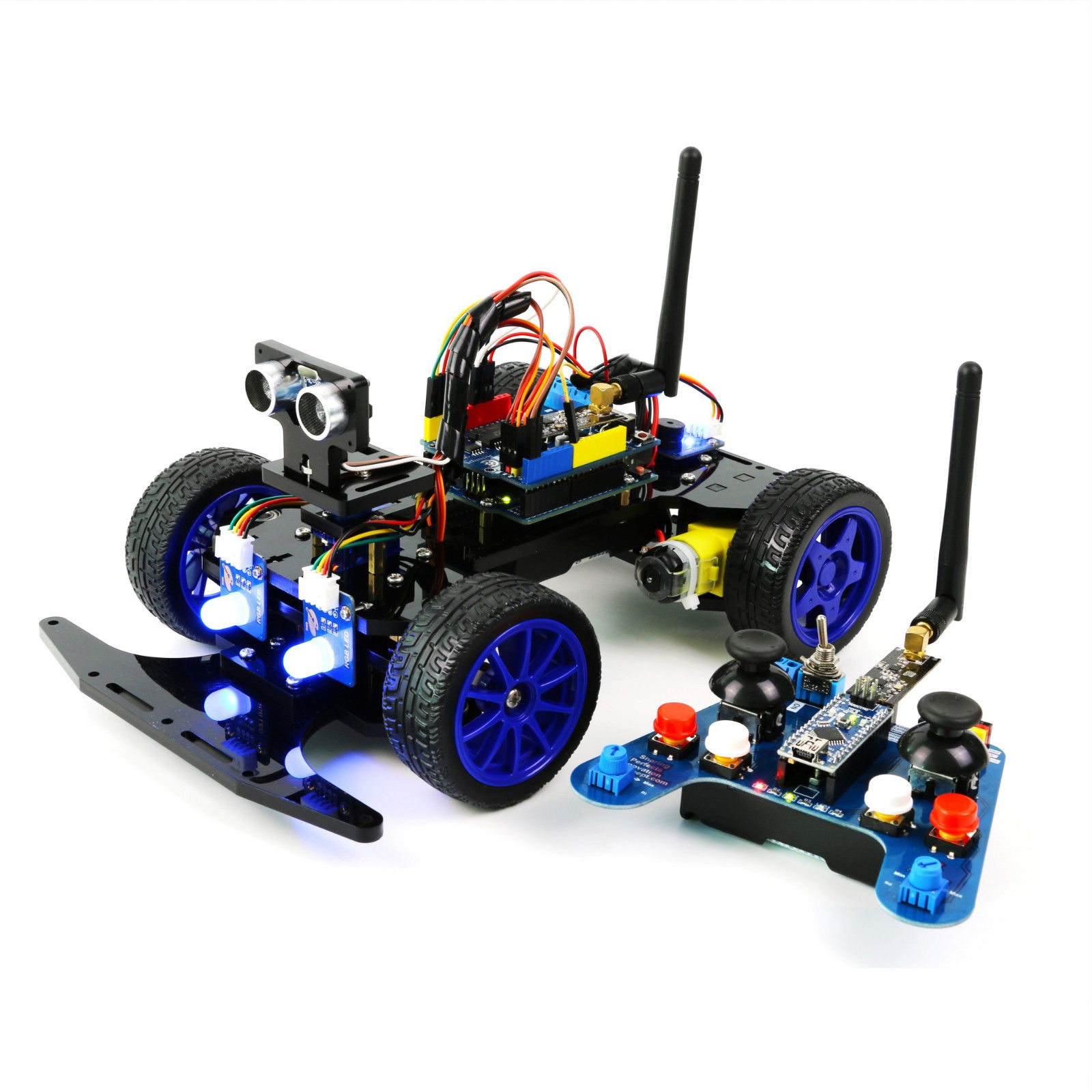 Adeept Robotics Model Arduino Smart Car kit Electronics DIY Ultrasonic Toys APP by