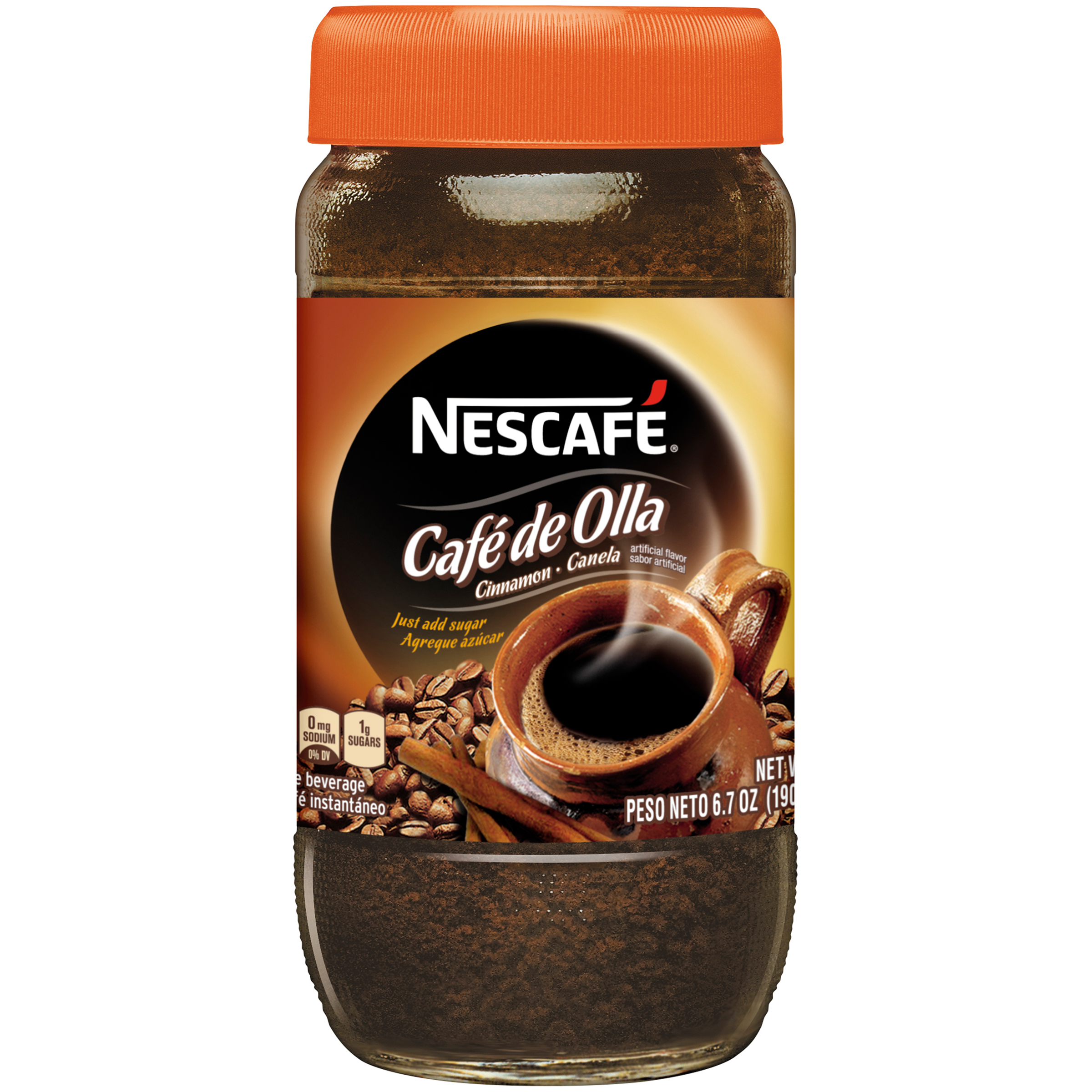 NESCAFE CAF�� DE OLLA Instant Coffee Beverage 6.7 oz. Jar