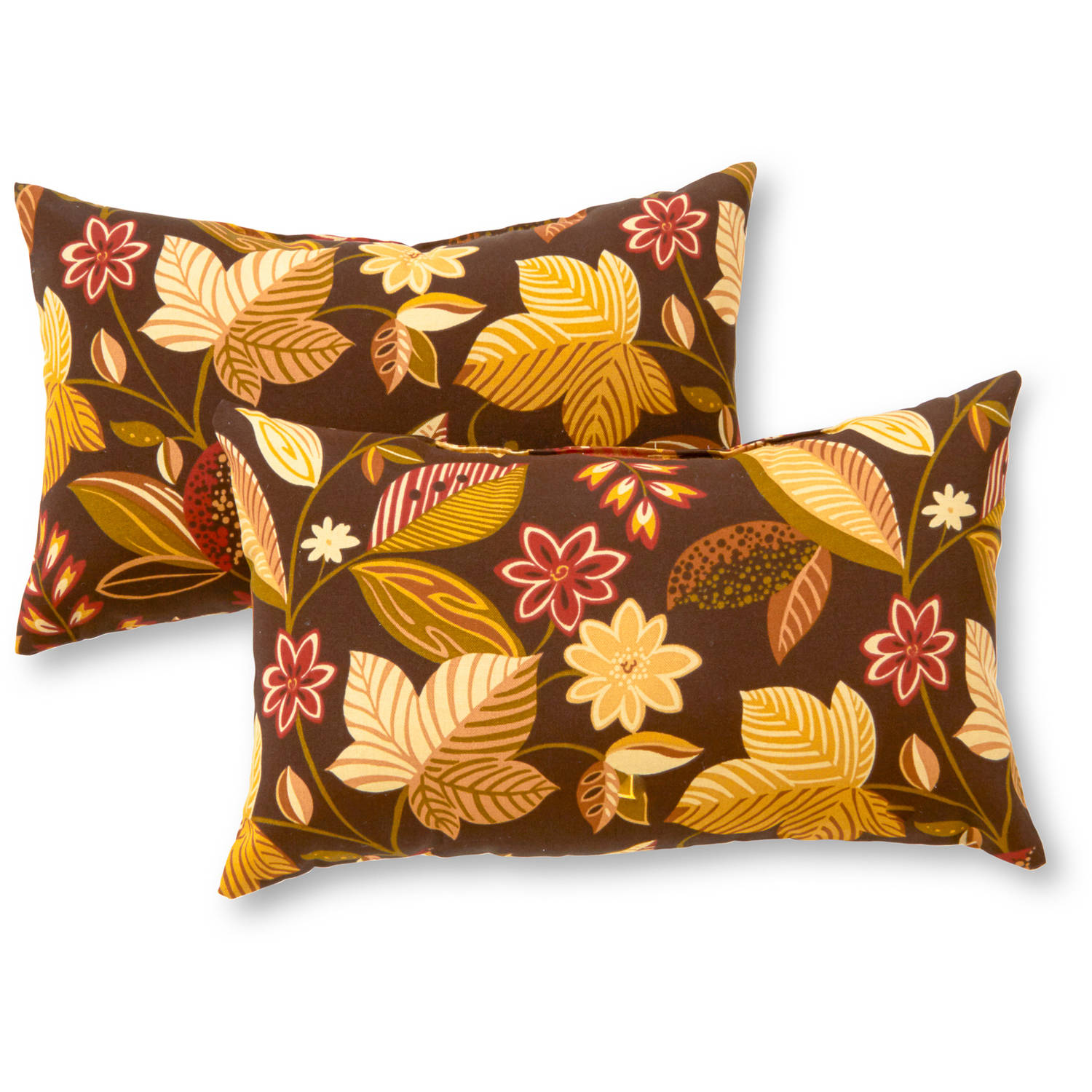 Greendale Home Fashions Rectangle Outdoor Accent Pillows, Set of 2, Kiwi