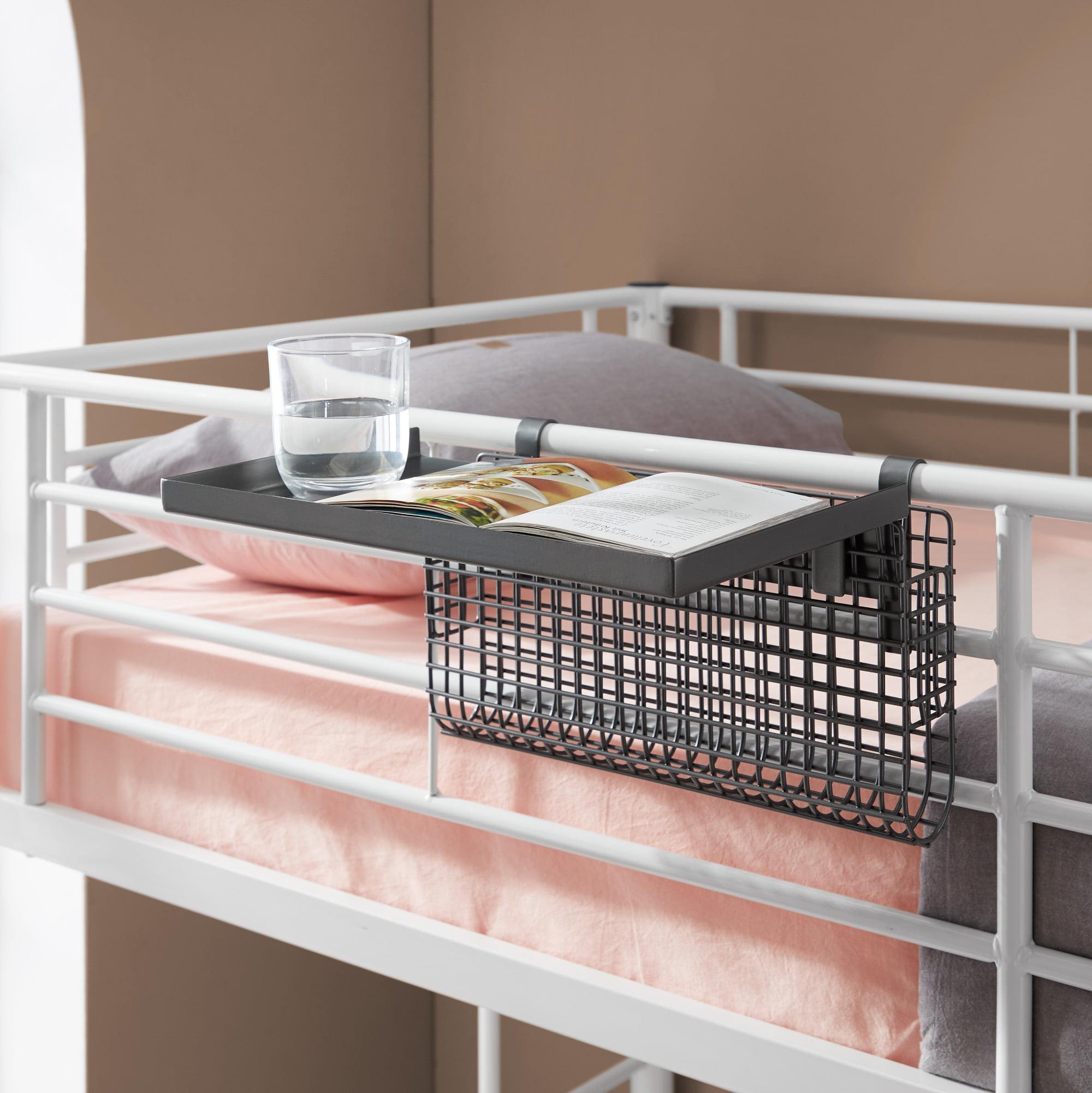 Manor Park Adjustable Metal Bunk Bed Shelf Grey Mesh Walmart Com Walmart Com