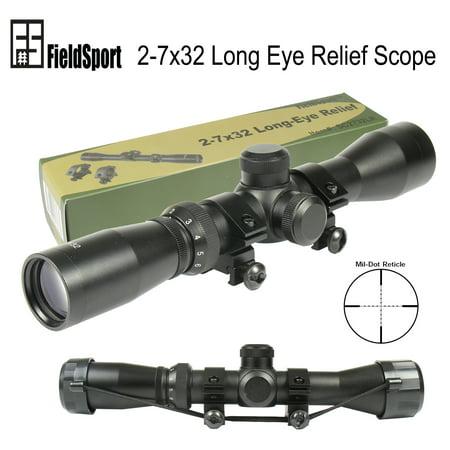 Field Sport Mosin Nagant 2-7x32 Long Eye Relief Scope Fits Mosin Nagant 1891/30 (Mosin Nagant 91 30 Pu Sniper Scope)