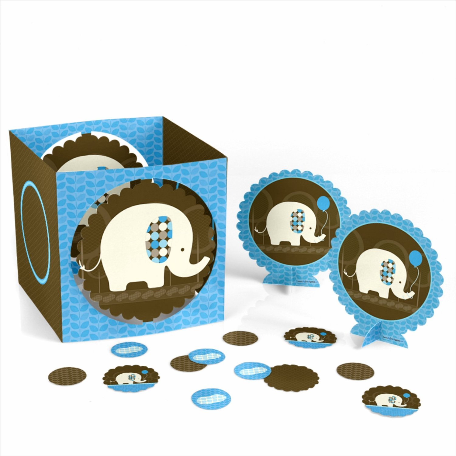Blue Elephant - Party Table Decorating Kit