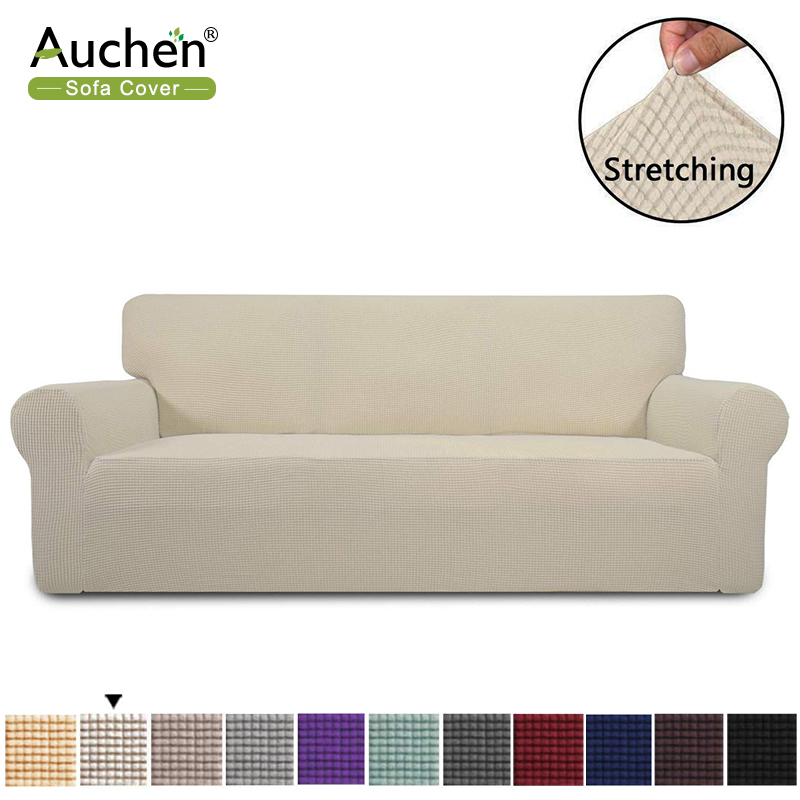 Auchen Leather Sofa Covers Stretch, Slipcovers For Furniture