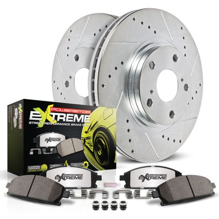 Power Stop Front Z26 Street Warrior Brake Pad and Rotor Kit K7661-26 2016-2018 Buick Envision 2017-2018 Buick Lacrosse Buick Lacrosse Rotor
