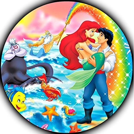 The Little Mermaid Ariel Image Photo Sugar Frosting Icing Cake Topper Sheet Birthday Party - 8