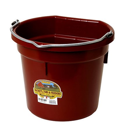 DuraFlex Flat Back Bucket 20 Qt BURGUNDY