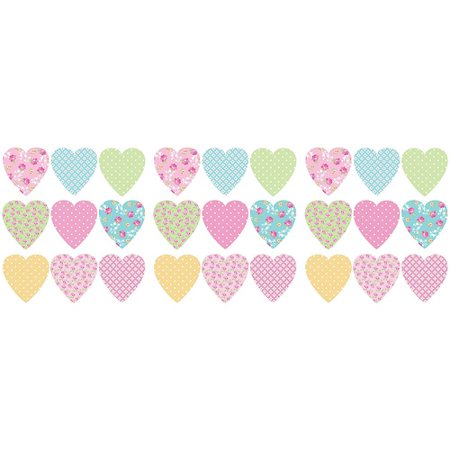 Pink Heart Decal (Fun4Walls Pretty Hearts Wall Decals )