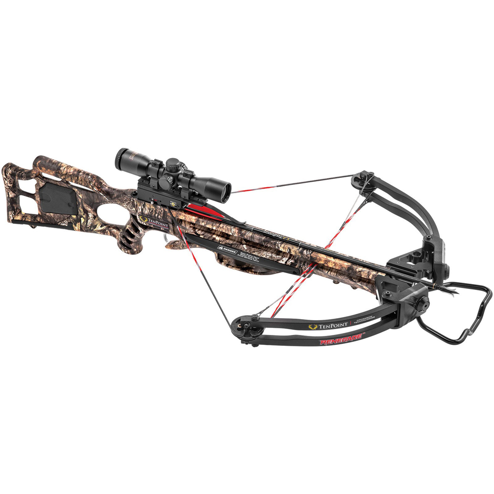 TenPoint CB17054-5520 Renegade Mossy Oak Country Camo 165# 3X Pro-View 2 Scope
