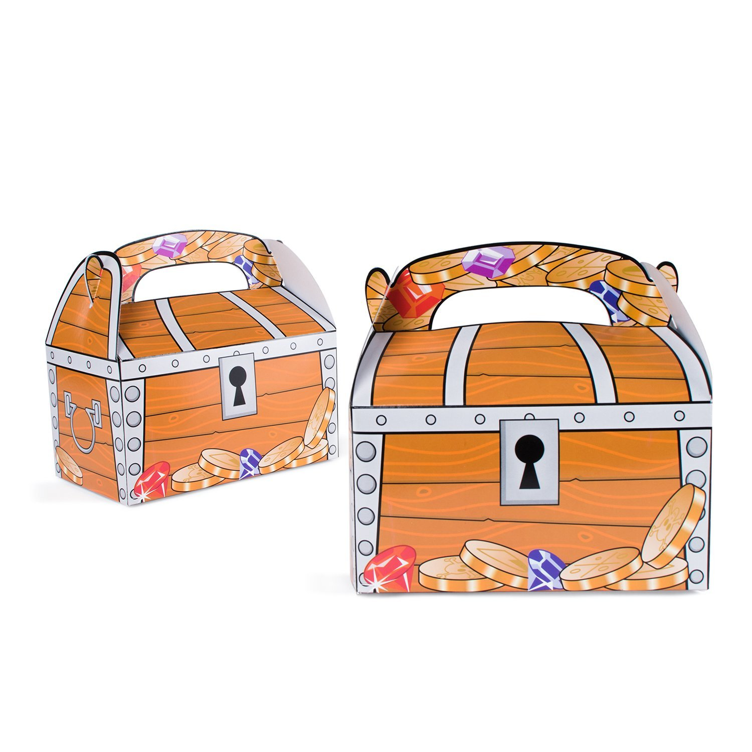 Treasure Chest Goodie Treat Boxes Pirate Birthday Theme Loot Favor Box By Super Z Outlet Walmart Com Walmart Com
