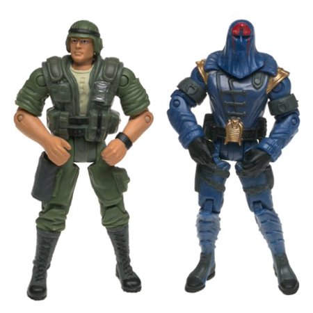 G.I. Joe Vs. Cobra Duke (Green Uniform) vs Cobra Commander Action Figure, By G I