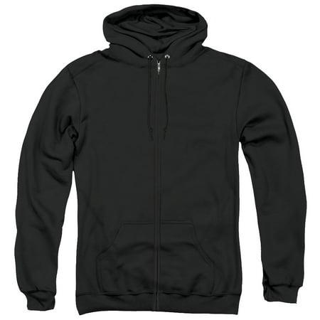 AC/DC Back In Black (Back Print) Adult Zip Hoodie Sweatshirt Black Back Zip Sweatshirt