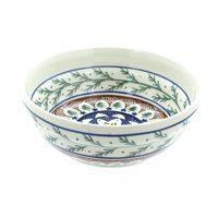 Polish Pottery Evergreen Cereal/Soup Bowl