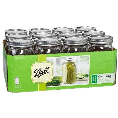 Hearthmark Wide Mouth Canning Jar Set (Set of 12)