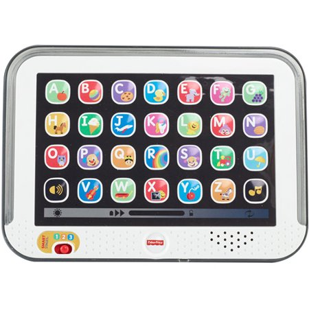 Fisher-Price Laugh & Learn Smart Stages Tablet, Gray (Fisher Price Smart Stages Home)