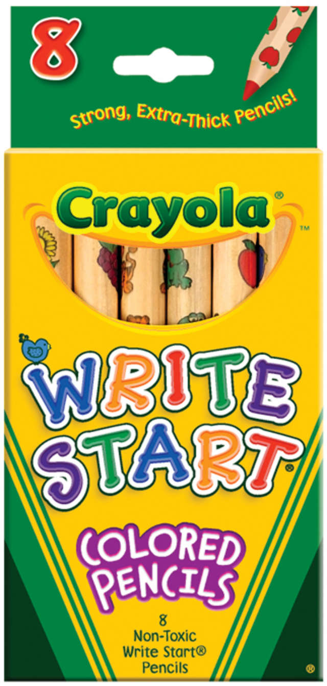 Crayola 8 Count Write Start Colored Pencils by Generic