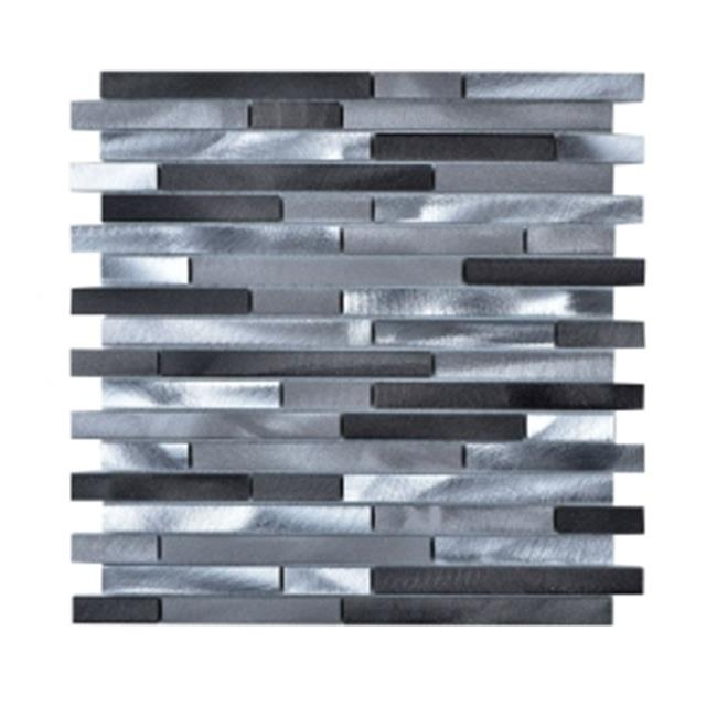 Legion Furniture MS-ALUMINUM-21 Aluminum Mosaic Tile in Gray