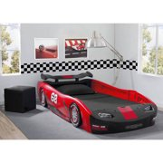 delta children turbo race car twin bed red