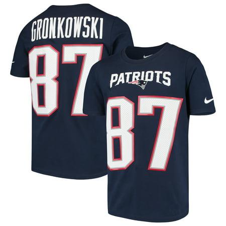 c6660bc7 Rob Gronkowski New England Patriots Nike Youth Player Pride 3.0 Name & Number  T-Shirt - Navy - Walmart.com