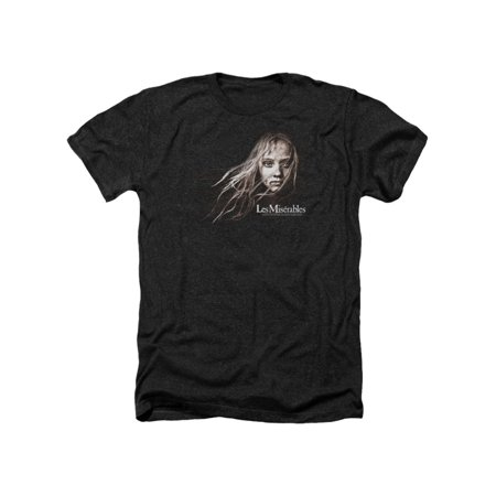 Les Miserables Musical Drama Movie Cosette Face Adult Heather T-Shirt Tee