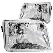 ANZO 1993-1997 Ford Ranger Crystal Headlights Chrome