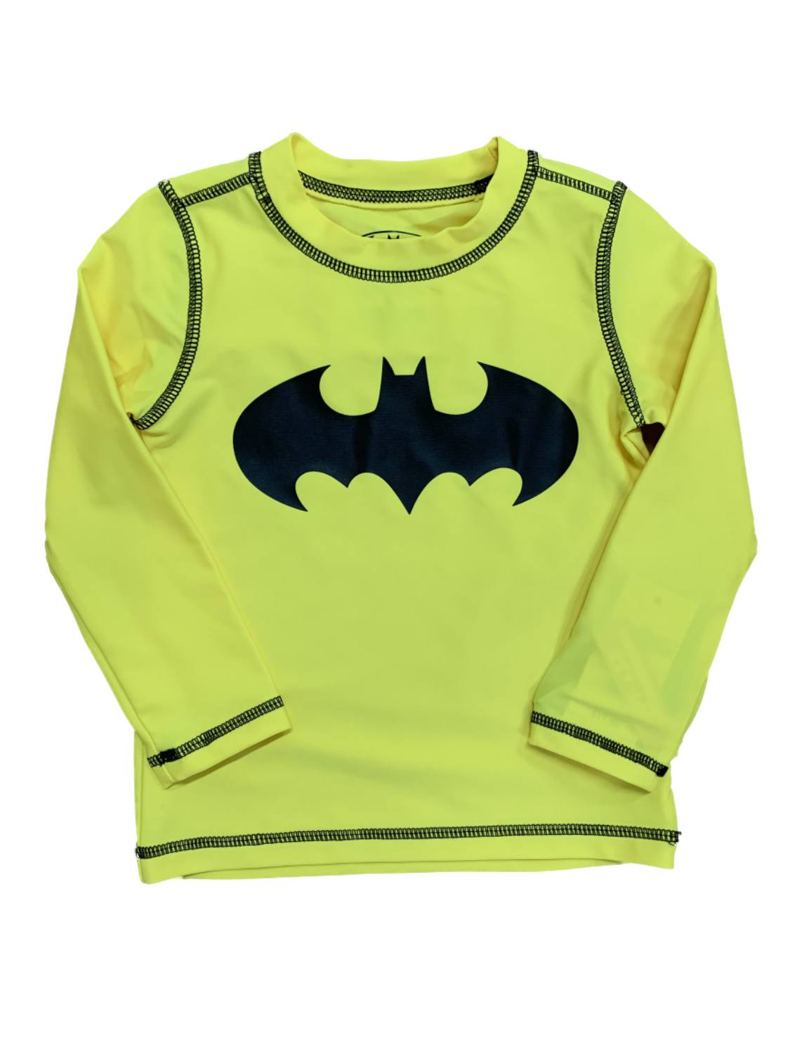 Yellow Batman Long-Sleeved T-Shirt for Babies Aged 3 to 24 Months Grey