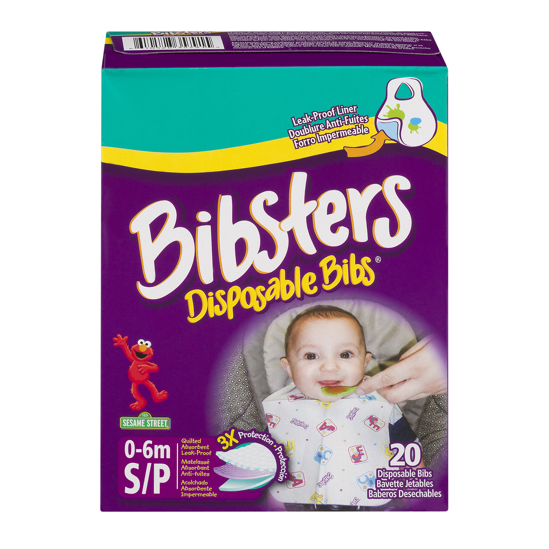 Neat Solutions Bibsters Disposable Bib, Infant, 20 Ct