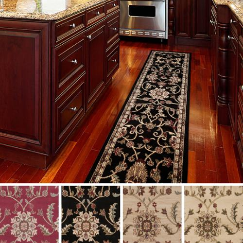 Meticulously Woven Lanier Floral Runner Rug (3' x 8') Red-(3' x 8')