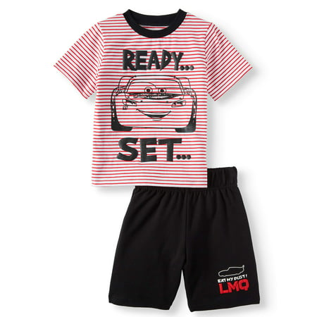 Cars T-Shirt & Shorts, 2pc Outfit Set (Toddler Boys) - Toddler Boy Valentine Outfit