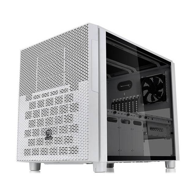 Thermaltake Core X5 Snow White Tempered Glass Open Cube Gaming Desktop Computer Chassis - CA-1E8-00M6WN-02