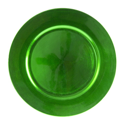 """(Price/EACH)Ten Strawberry Street LAGR-24 Lacquer Round Lacquer Charger Plate, Green, Round, 13"""""""