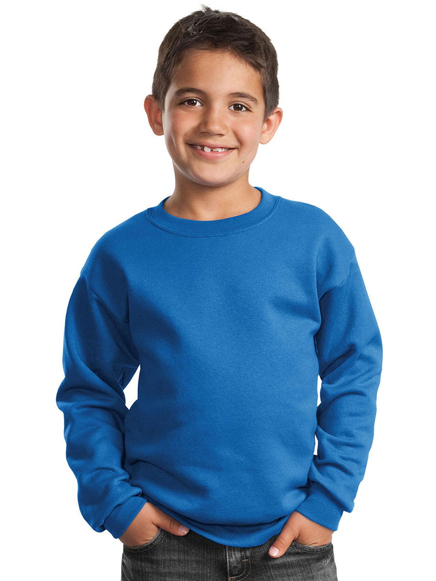 Port & Company Youth Perfect Crewneck Waistband Sweatshirt