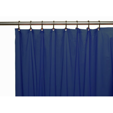 Venice Elegant Home Heavy Duty Vinyl Shower Curtain Liner With 12 Metal Grommets Navy Blue